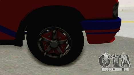 Gazela 33021 Caneta Colômbia para GTA San Andreas vista traseira