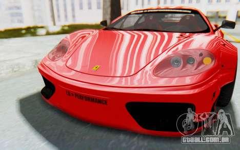 Ferrari 360 Modena Liberty Walk LB Perfomance v2 para GTA San Andreas vista interior