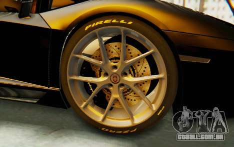 Lamborghini Aventador LP700-4 Light Tune para GTA San Andreas vista traseira