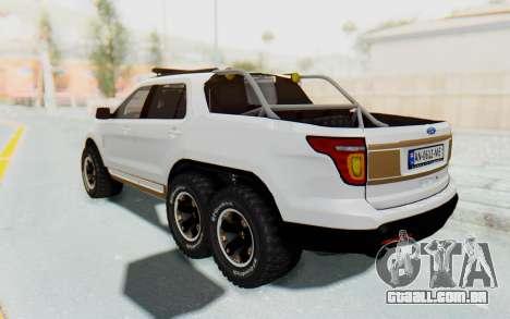Ford Explorer Pickup para GTA San Andreas traseira esquerda vista