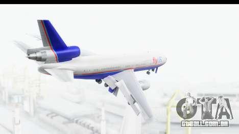 DC-10 Fly Us para GTA San Andreas vista direita