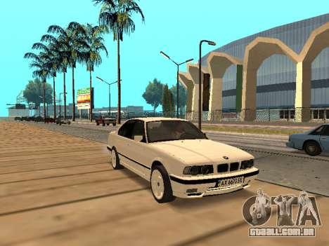 BMW E34 - EK edition para GTA San Andreas esquerda vista