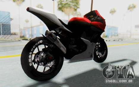 Kawasaki Ninja 250R Superbike para GTA San Andreas traseira esquerda vista