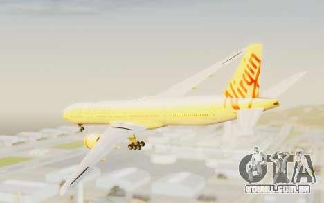 Boeing 777-300ER Virgin Australia v2 para GTA San Andreas esquerda vista