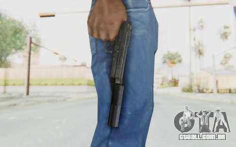Tariq Iraqi Pistol Back v1 Black Silenced para GTA San Andreas terceira tela