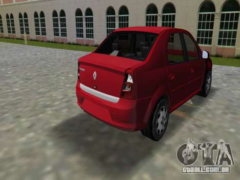 Renault Logan para GTA Vice City deixou vista