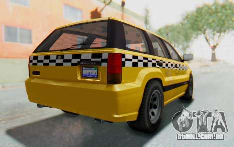 Canis Seminole Taxi para GTA San Andreas esquerda vista