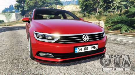 Volkswagen Passat Highline B8 2016 Stanced para GTA 5