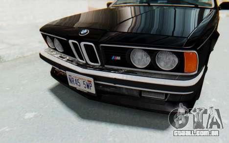 BMW M635 CSi (E24) 1984 IVF PJ3 para vista lateral GTA San Andreas