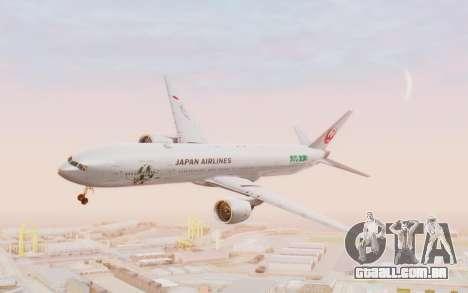Boeing 777-300ER Japan Airlines v1 para GTA San Andreas traseira esquerda vista