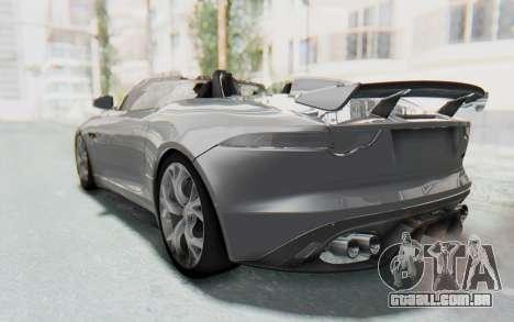 Jaguar F-Type Project 7 para GTA San Andreas vista direita