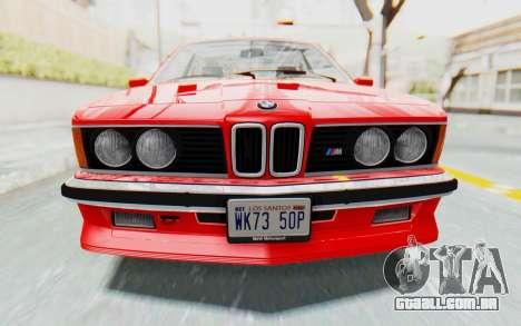 BMW M635 CSi (E24) 1984 IVF PJ2 para GTA San Andreas vista interior