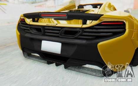 McLaren 650S Spyder ZenWorks para GTA San Andreas vista superior