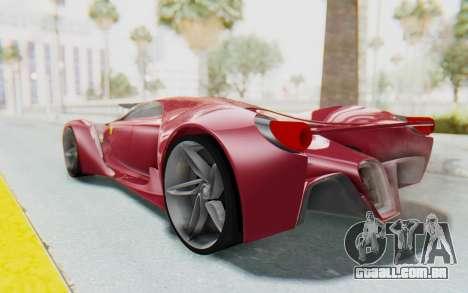 Ferrari F80 Concept para GTA San Andreas esquerda vista