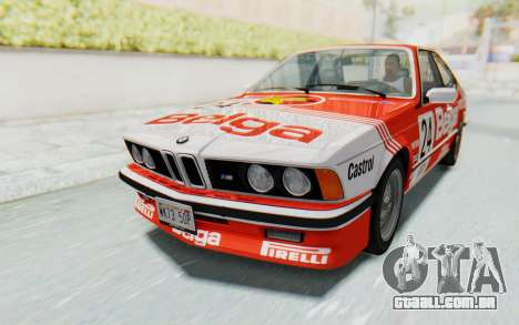 BMW M635 CSi (E24) 1984 IVF PJ2 para as rodas de GTA San Andreas
