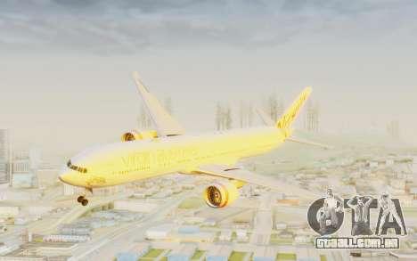 Boeing 777-300ER Virgin Australia v2 para GTA San Andreas traseira esquerda vista
