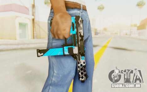Tec-9 Neural Blue para GTA San Andreas terceira tela
