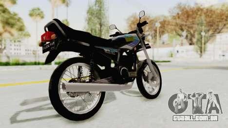 Yamaha RX King 135 1993 para GTA San Andreas traseira esquerda vista