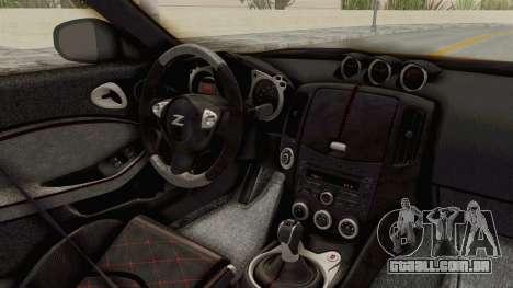Nissan 370Z Nismo Z34 para GTA San Andreas vista interior