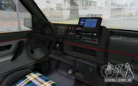 Volkswagen Golf Mk2 Lemon para GTA San Andreas vista interior
