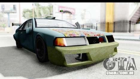Fortune Korc para GTA San Andreas traseira esquerda vista