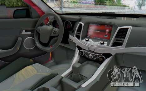 Chevrolet Super Sport 2014 para GTA San Andreas vista interior