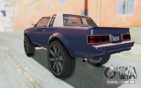 GTA 5 Willard Faction Custom Donk v3 IVF para GTA San Andreas esquerda vista