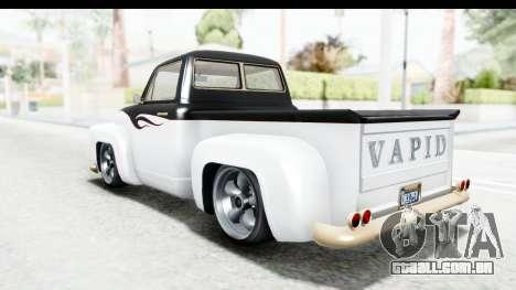 GTA 5 Vapid Slamvan without Hydro IVF para GTA San Andreas interior