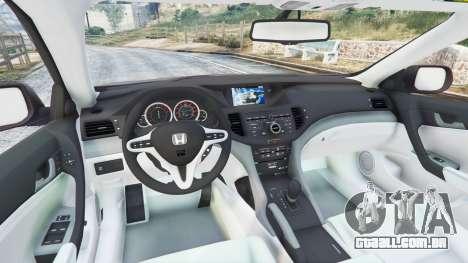 GTA 5 Honda Accord 2010 traseira direita vista lateral