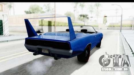 Dodge Charger Daytona 1969 Cabrio para GTA San Andreas esquerda vista