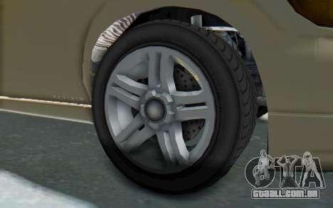 GTA 5 Vapid Minivan IVF para GTA San Andreas vista traseira
