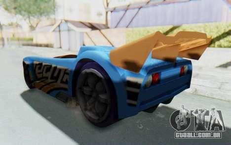 Hot Wheels AcceleRacers 1 para GTA San Andreas traseira esquerda vista