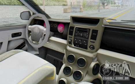 GTA 5 Vapid Minivan Custom without Hydro IVF para GTA San Andreas vista interior