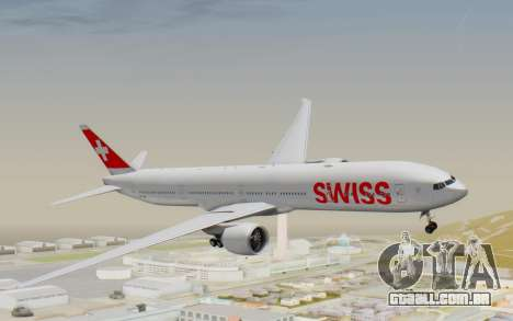 Boeing 777-300ER Swiss Global Air Lines para GTA San Andreas traseira esquerda vista