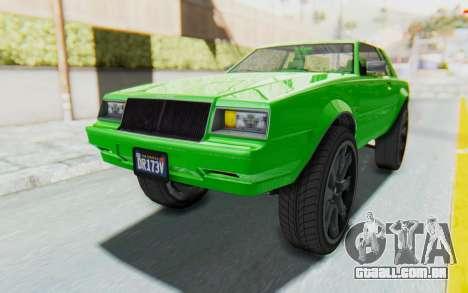 GTA 5 Willard Faction Custom Donk v3 para GTA San Andreas traseira esquerda vista