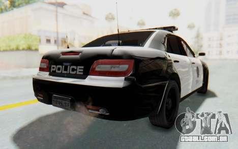 ASYM Desanne XT Pursuit v1 para GTA San Andreas esquerda vista