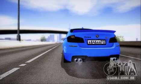 BMW M5 F10 G-Power para GTA San Andreas vista interior