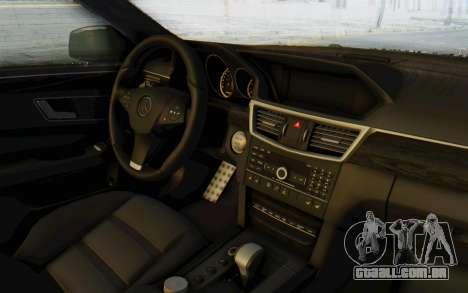 Mercedes-Benz E63 German Police Green para GTA San Andreas vista interior