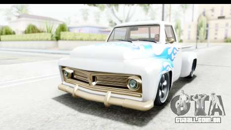 GTA 5 Vapid Slamvan without Hydro IVF para GTA San Andreas vista interior