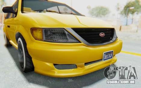 GTA 5 Vapid Minivan Custom IVF para GTA San Andreas vista superior