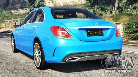 GTA 5 Mercedes-Benz C250 2014 traseira vista lateral esquerda