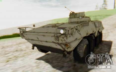 MGSV Phantom Pain STOUT IFV APC Tank v2 para GTA San Andreas vista traseira
