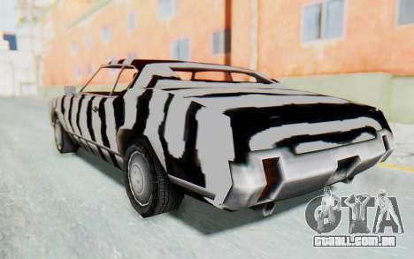 White Zebra Sabre Turbo para GTA San Andreas esquerda vista