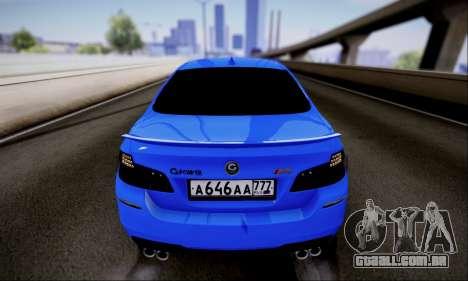 BMW M5 F10 G-Power para GTA San Andreas vista traseira