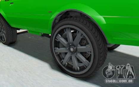GTA 5 Willard Faction Custom Donk v3 para GTA San Andreas vista traseira