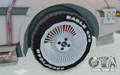 DeLorean DMC-12 2012 End Of The World para GTA San Andreas vista traseira