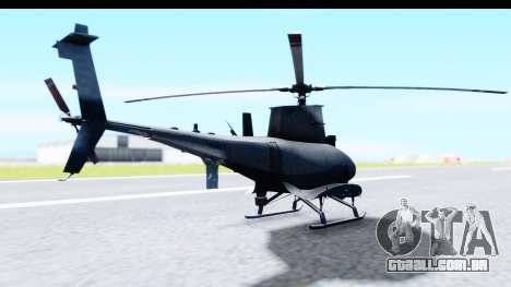 Northrop Grumman MQ-8B Fire Scout para GTA San Andreas vista direita