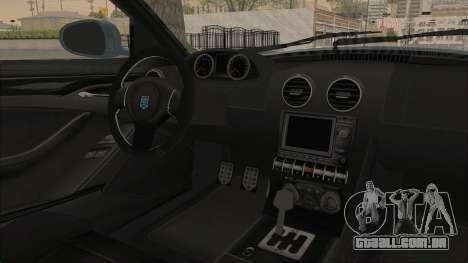 GTA 5 Grotti Bestia GTS v2 SA Lights para GTA San Andreas vista interior