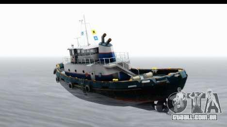 GTA 5 Buckingham Tug Boat v2 IVF para GTA San Andreas esquerda vista
