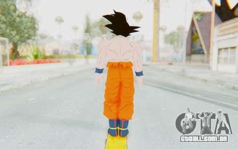 Dragon Ball Xenoverse Goku Shirtless SJ para GTA San Andreas terceira tela